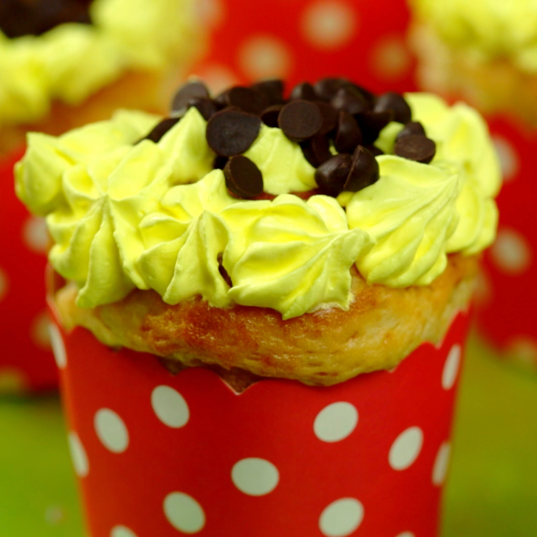 Whipped Cream and Chocolate Chip Muffins