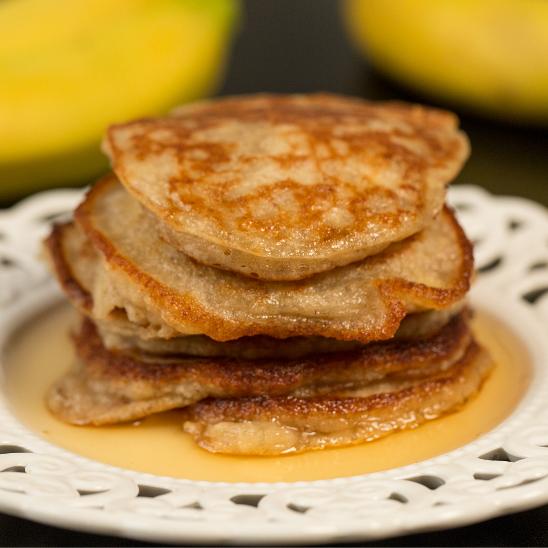Banana Pancakes with Agave Syrup
