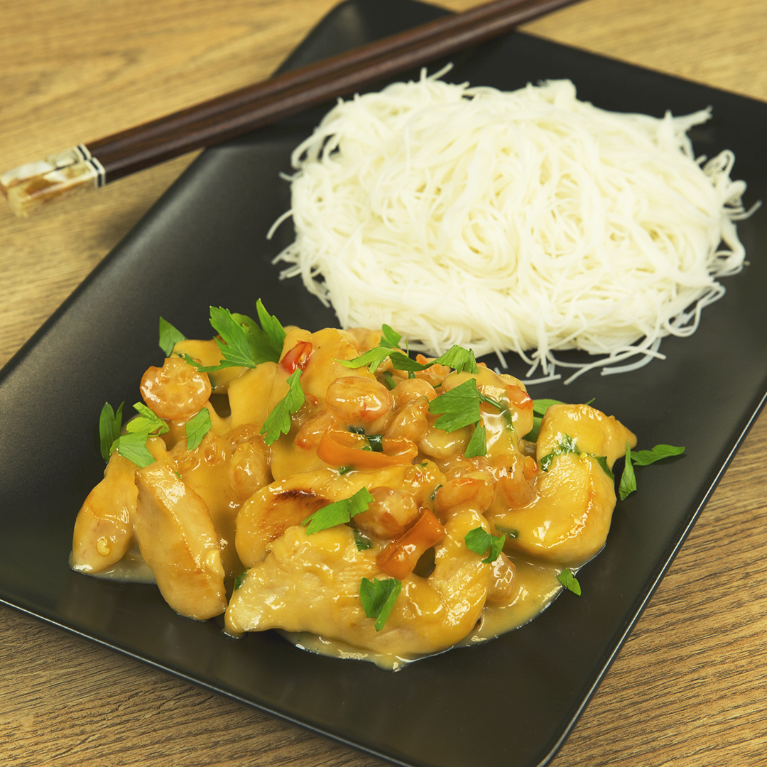 Chicken and Shrimp with Creamy Sauce
