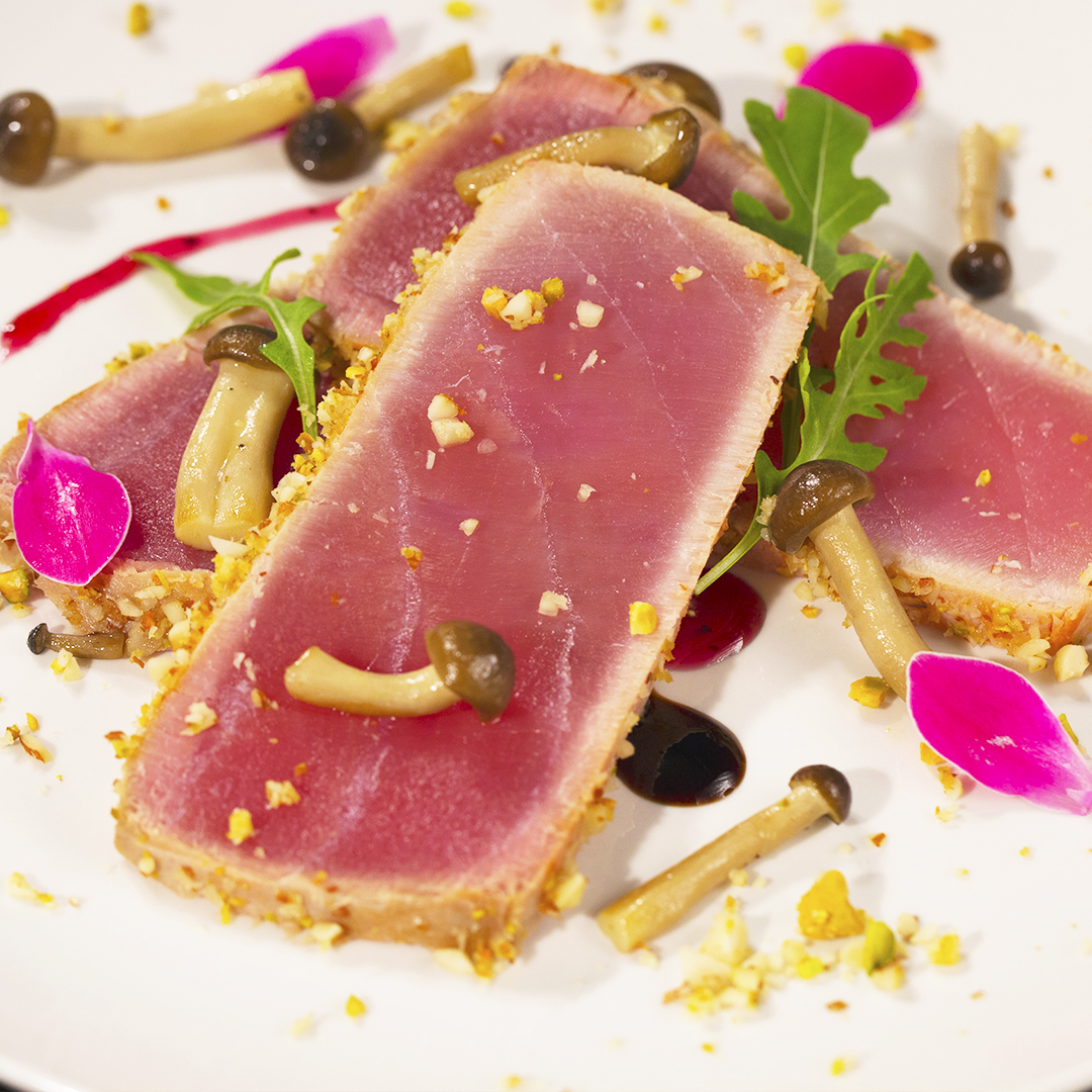 Tuna Steak with Shimeji Mushrooms