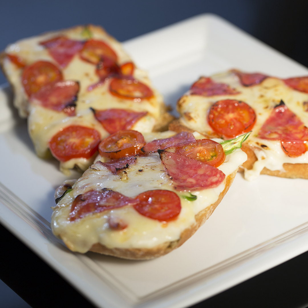 Salami and Mozzarella Sandwiches
