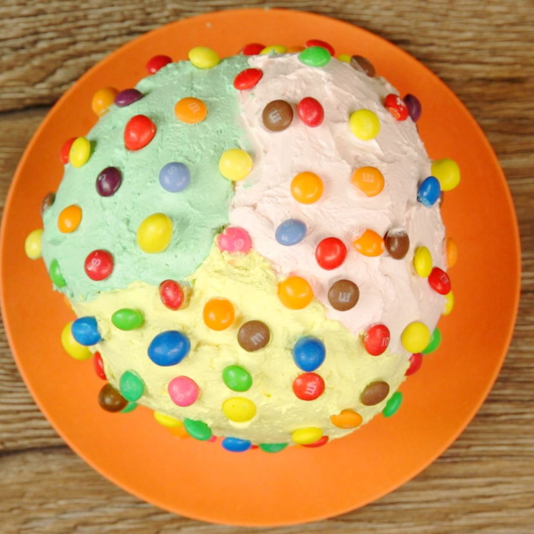 Skittles and M&M Whipped Cream Panettone