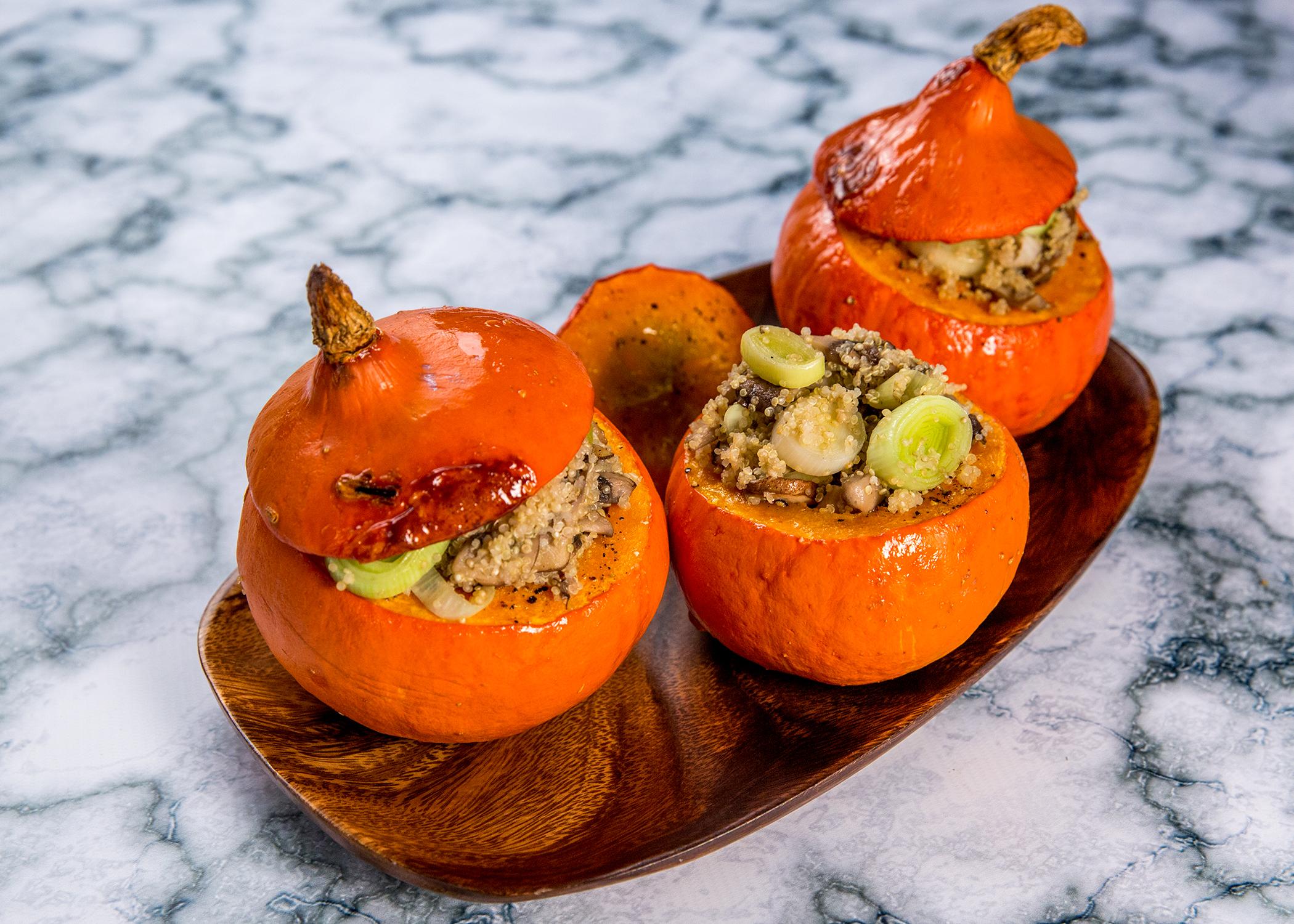 Quinoa-Filled Pumpkins