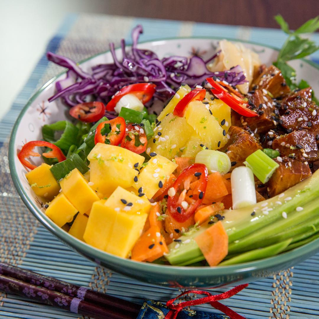 Tuna, Mango and Pineapple Poke
