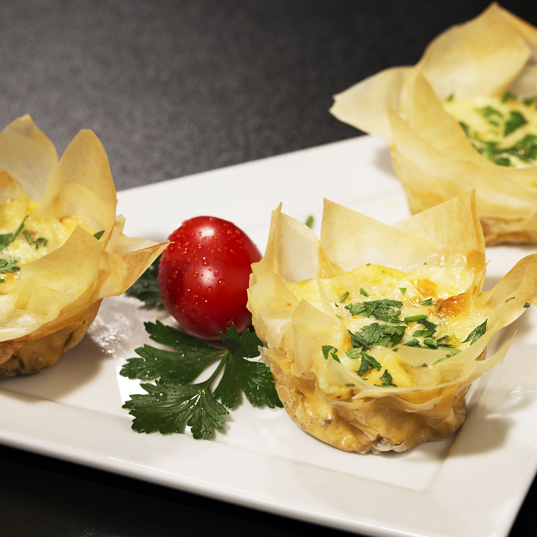 Phyllo Egg Muffins with Dried Tomatoes