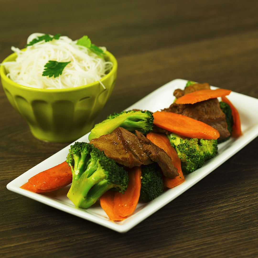 Spicy Beef with Carrots and Broccoli