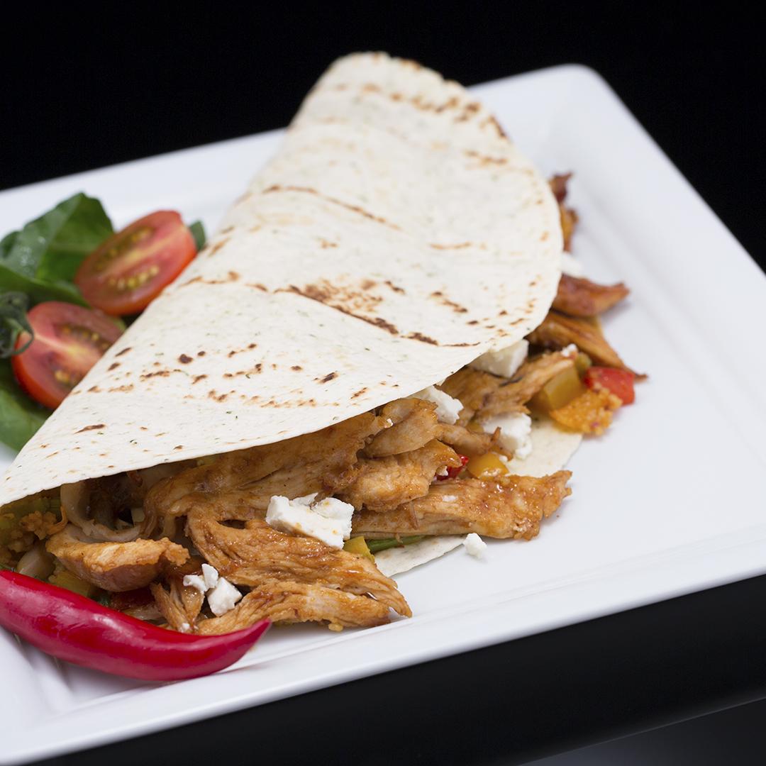 Turkey, Veggie and Feta Tacos