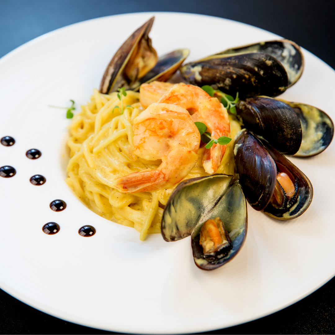 Creamy Seafood Spaghetti