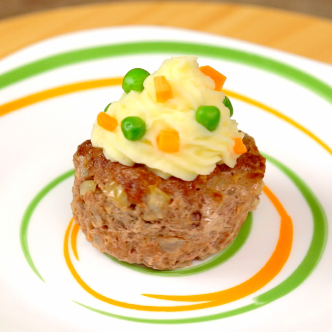 Potato Topped Meatloaf Muffins