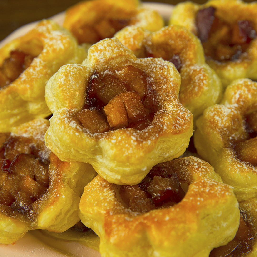 Puff Pastry Peach Tartlets So Delicious