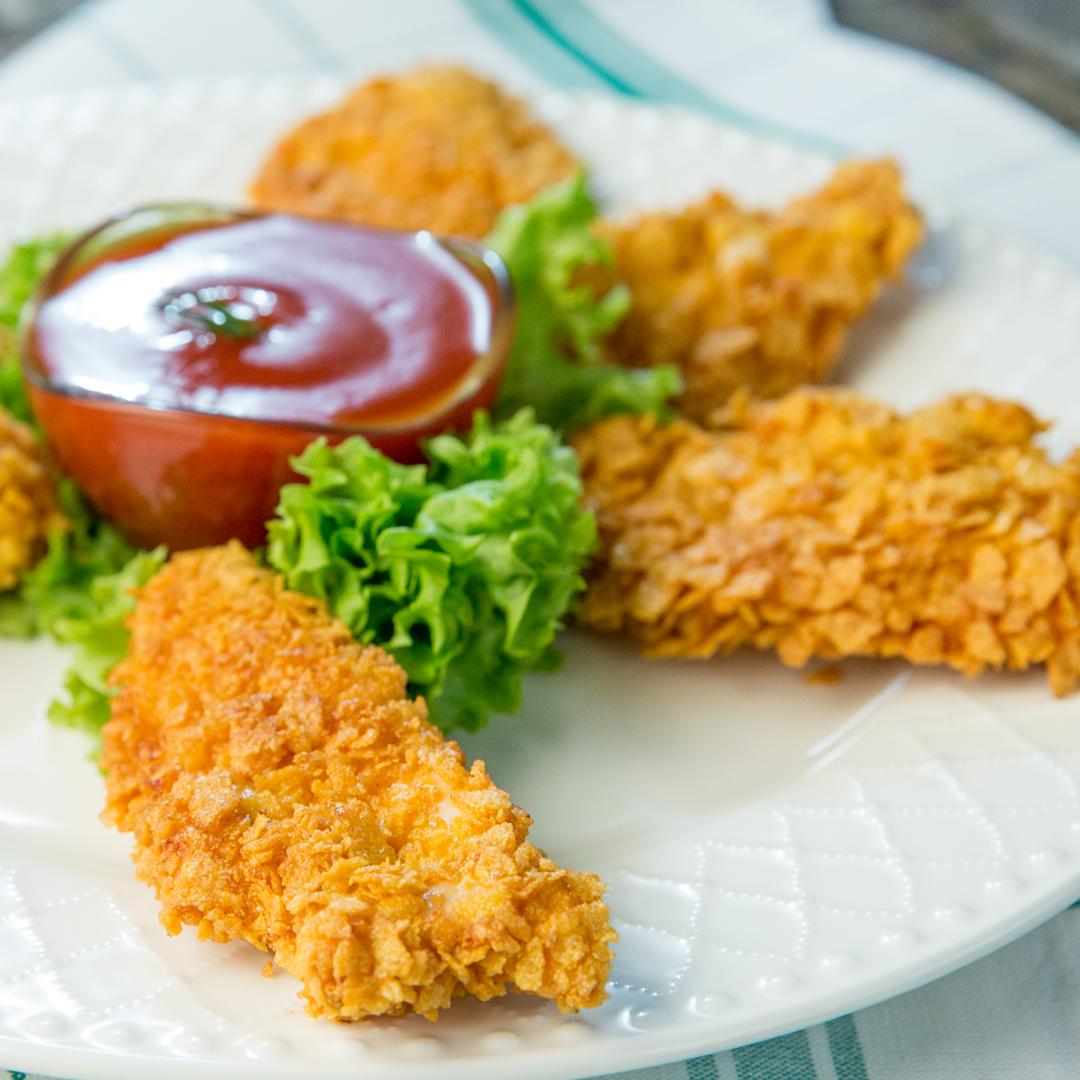 Cornflake-Crusted Chicken Strips