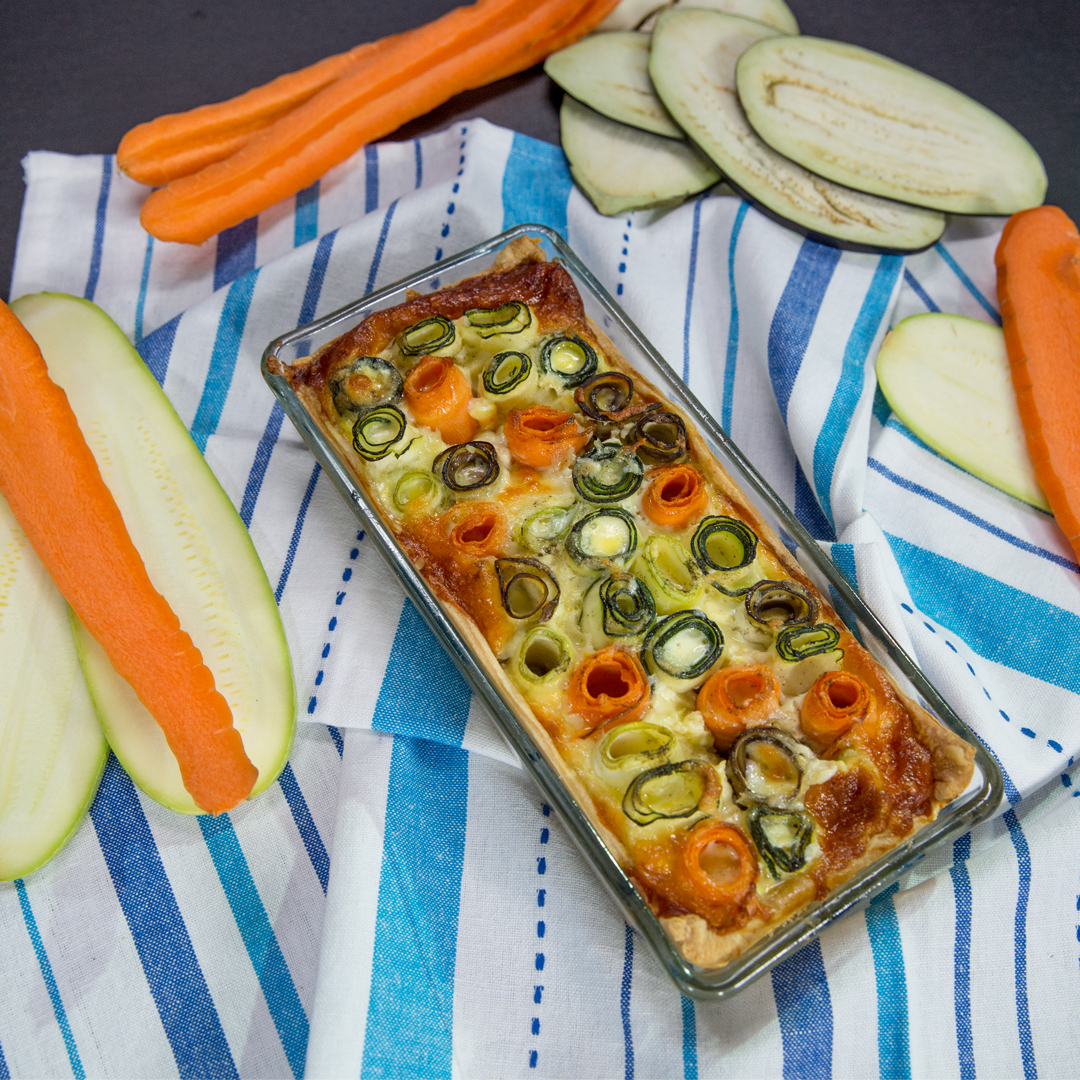 Cheese and Veggie Roll Casserole