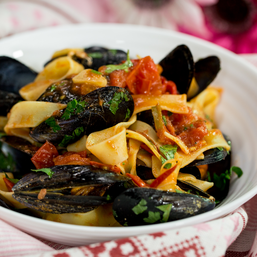 Pappardelle with Mussels and Anchovies