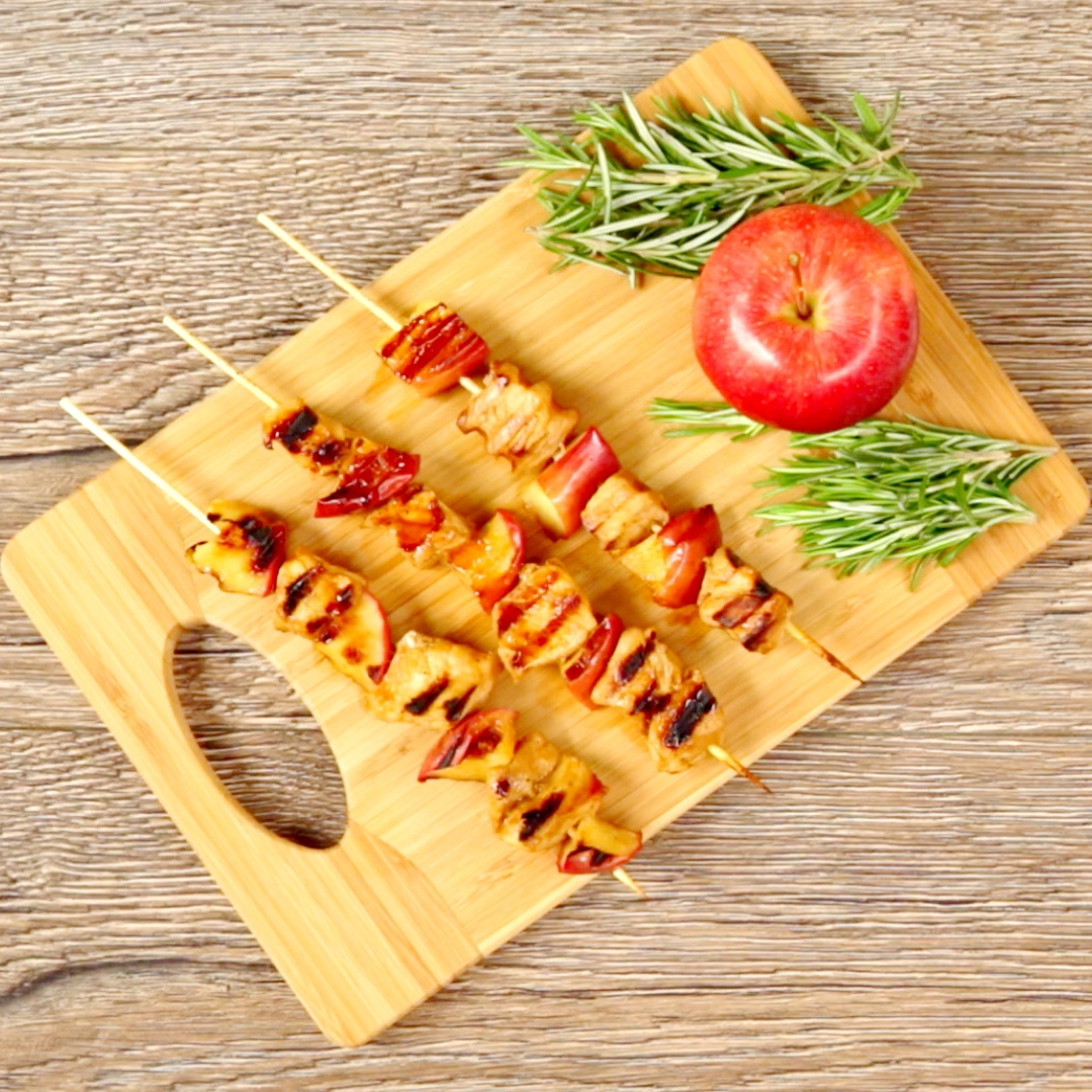Apple and Pork Skewers