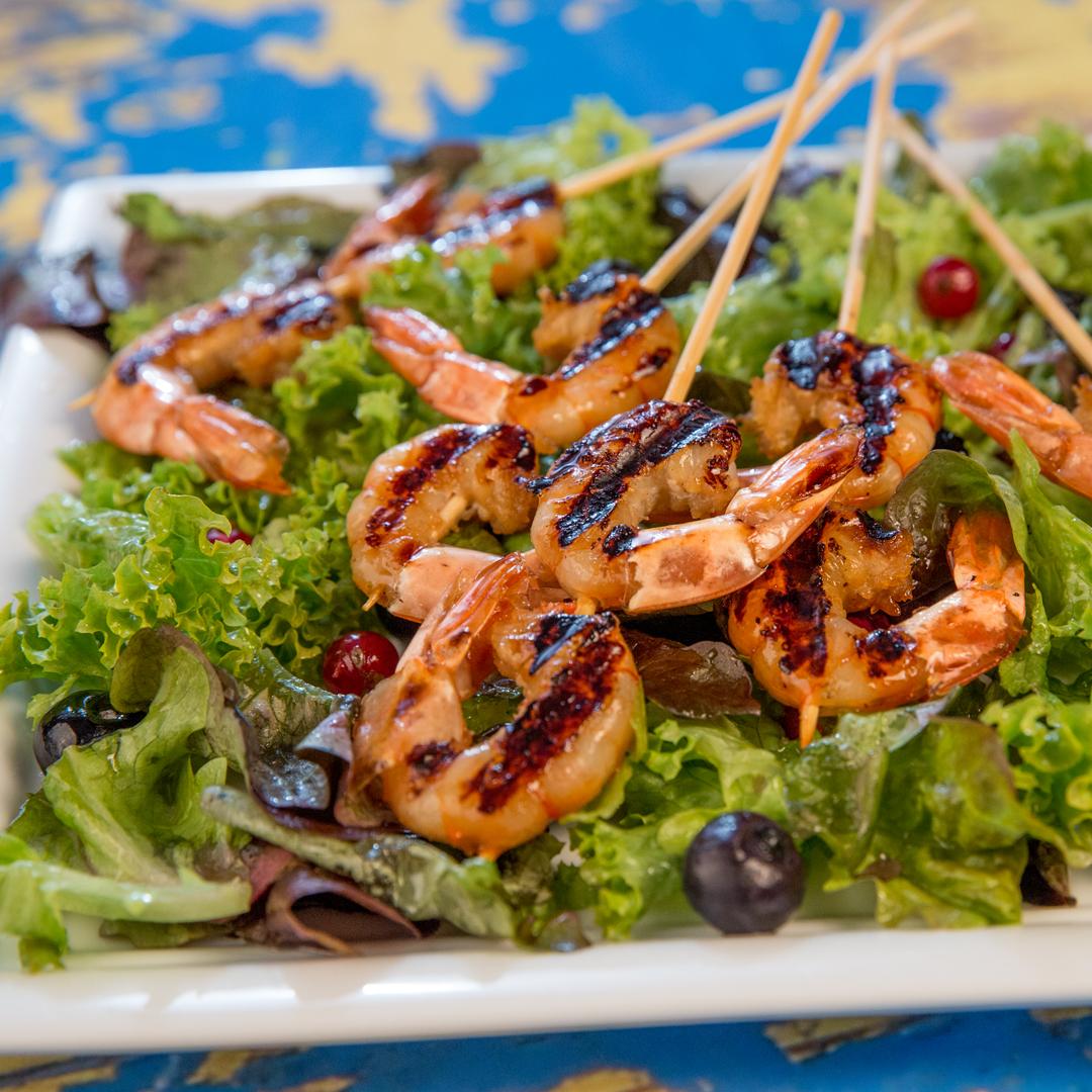 Grilled Soy Marinated Shrimp