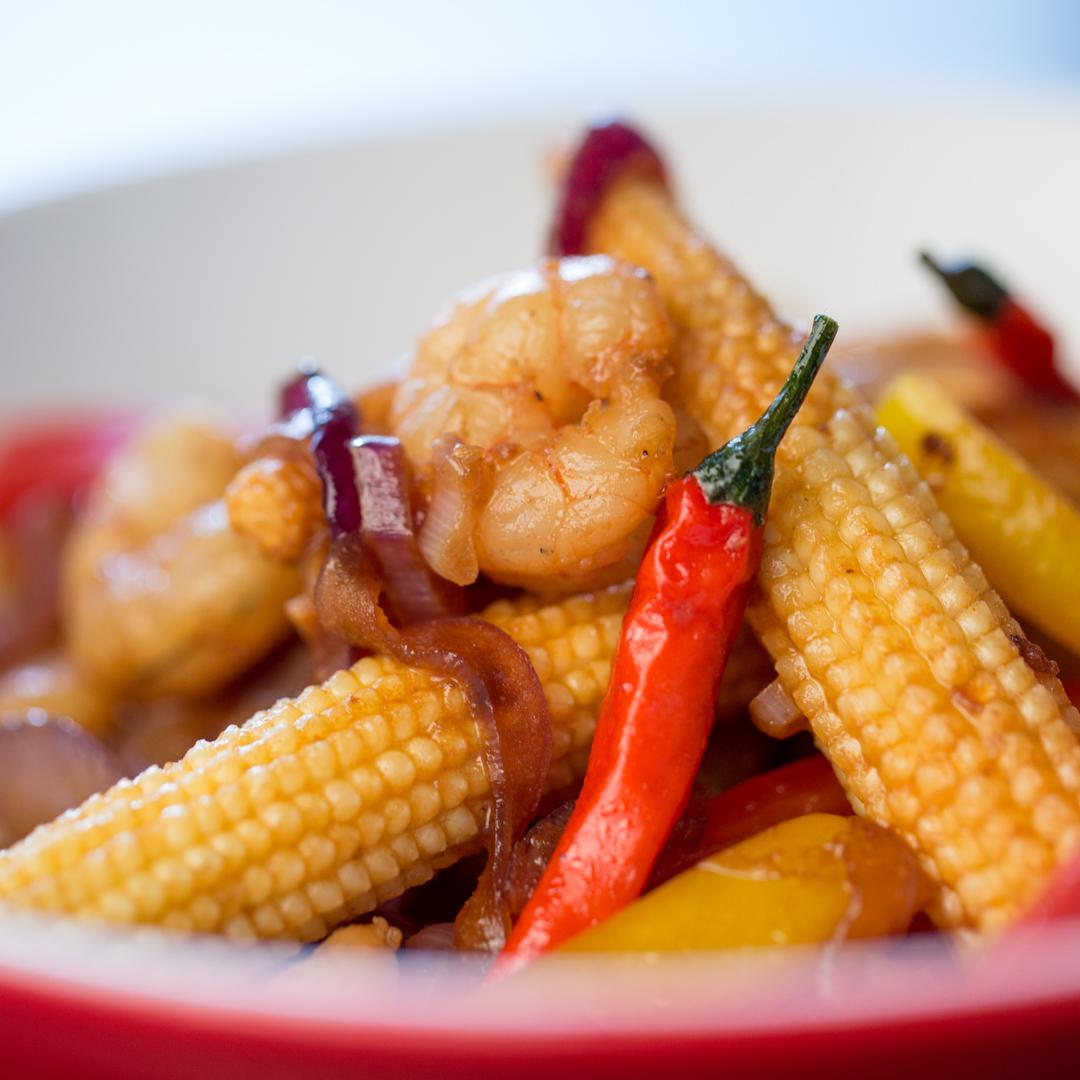 Spicy Shrimp Stir-Fry
