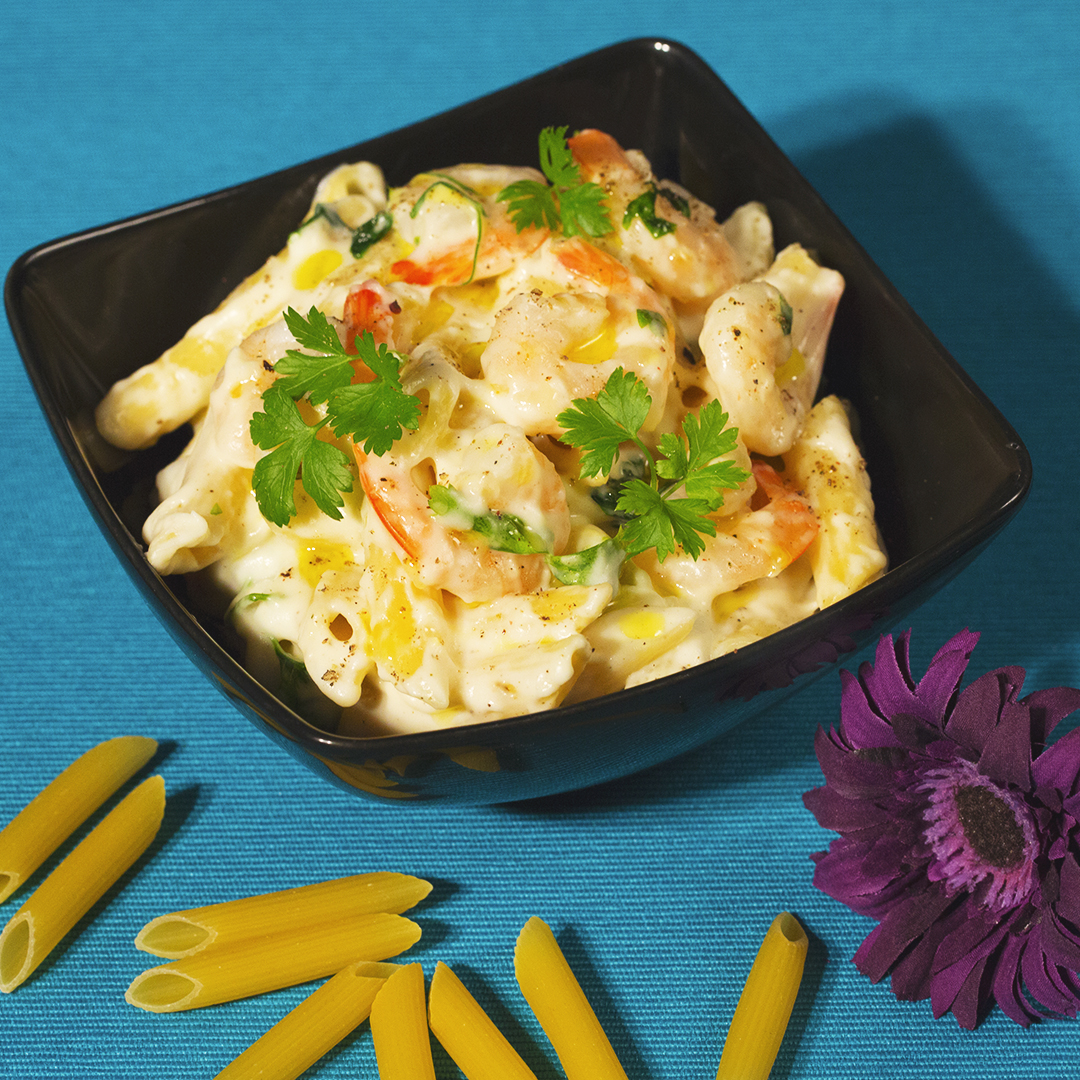 Penne with Shrimp and Creamy Sauce