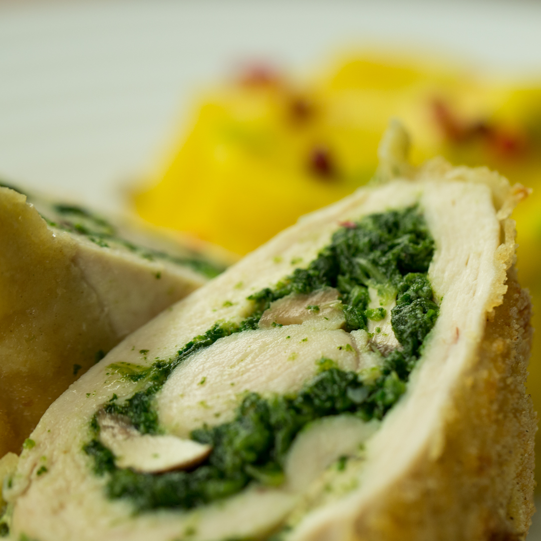 Spinach Stuffed Chicken Roll