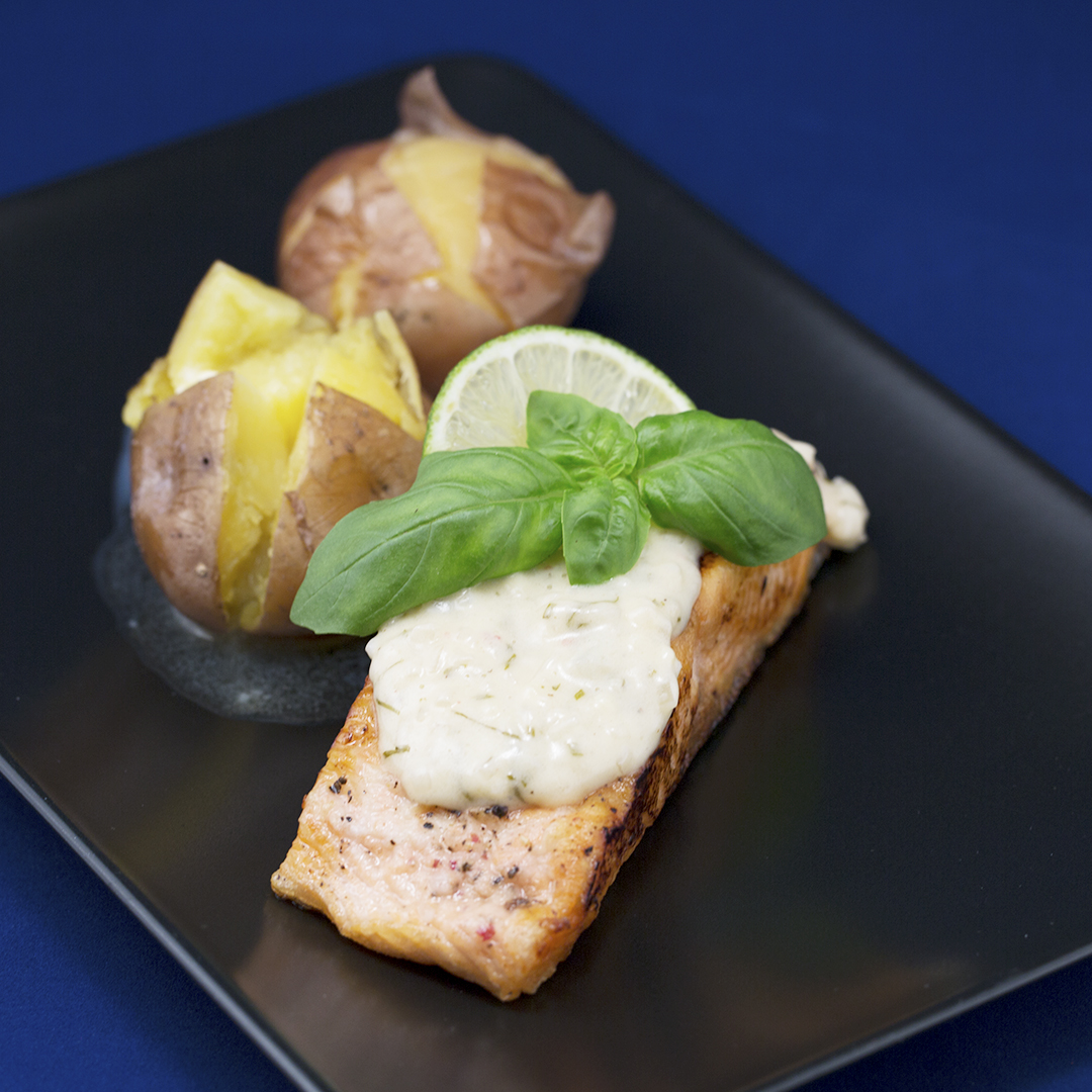 Pan-Fried Salmon with Ginger and Butter Sauce