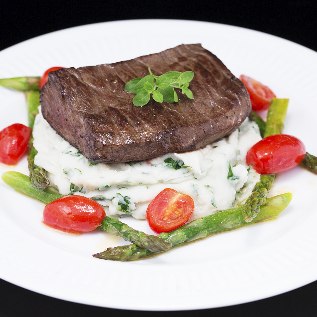 Beef Tenderloin with Creamy Potato Mash