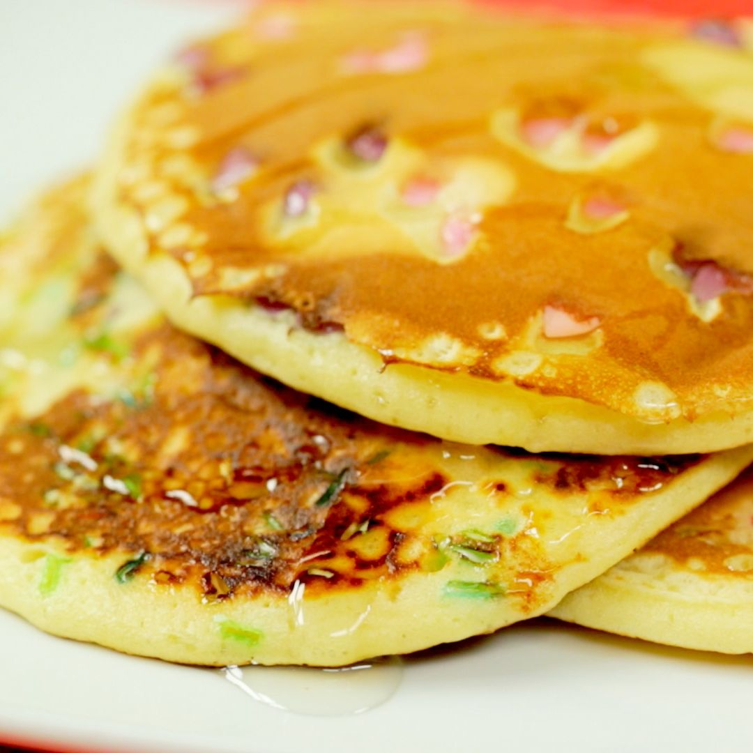 Pancakes with Sprinkles and Honey