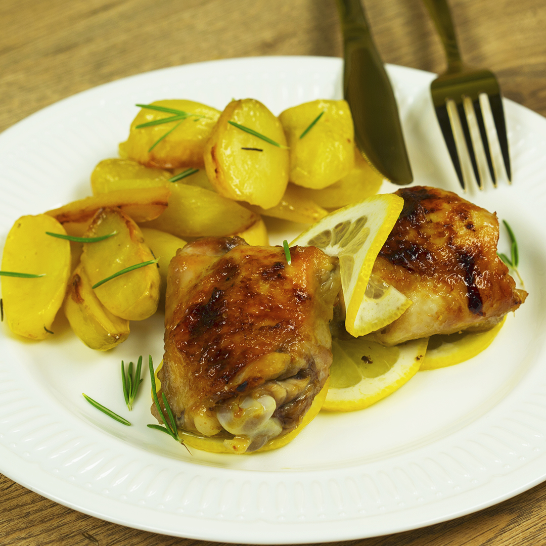Sweet and Sour Chicken Thighs with Potatoes