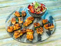 Spiced Salmon and Zucchini Skewers