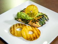 Herbed Salmon with Grilled Pineapple