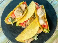 Salmon and Veggie Tacos