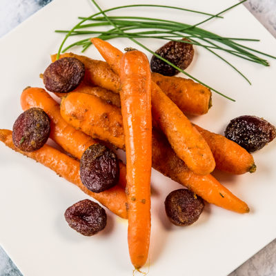 roasted carrots and apricots