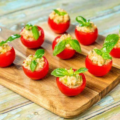 Shrimp Filled Cherry Tomatoes