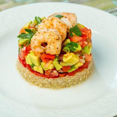 Shrimp, Avocado, and Quinoa Risotto