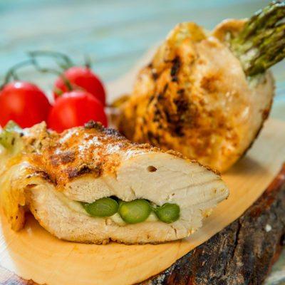 asparagus and mozzarella chicken breast