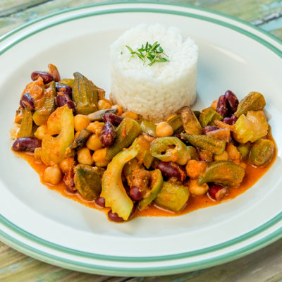 Okra Bean Stew