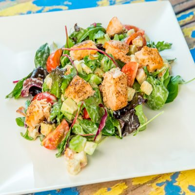 Salmon Salad with Croutons