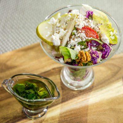 Gouda Walnut Salad with Mint Vinaigrette