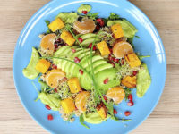 Quinoa Salad with Avocado and Roast Squash