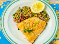 Dijon-Glazed Salmon with Lentil Salad