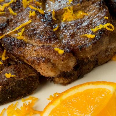 spiced lemon pork steak