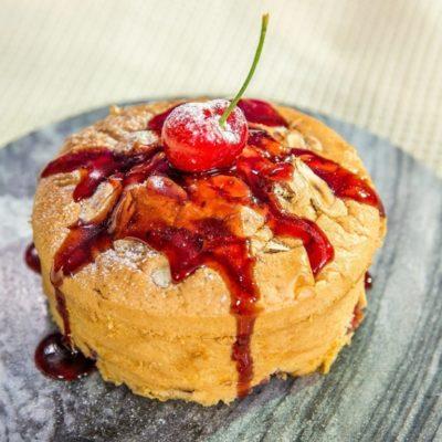 almond cherry mini cake