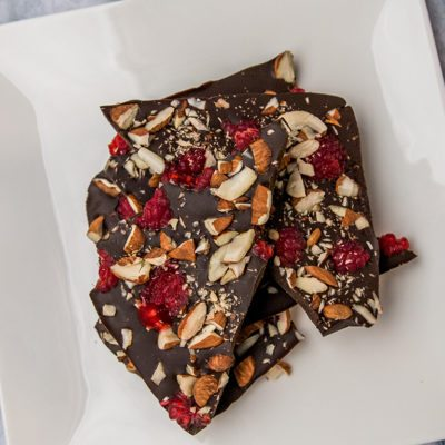 Raspberry Almond Chocolate Bark