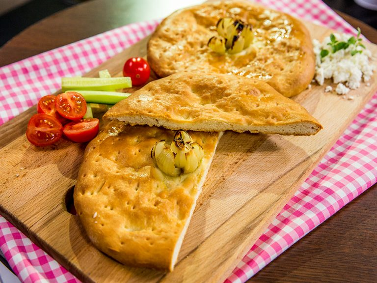 olive oil and garlic focaccia