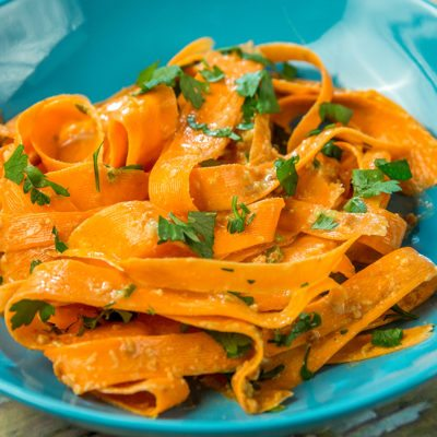 Carrot Salad with Peanut Butter Dressing