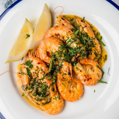 Garlic, Butter and White Wine Shrimp