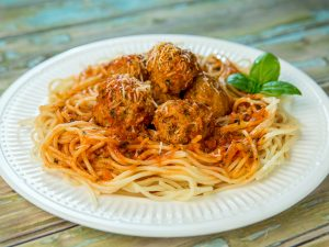 Spaghetti with Spicy Meatballs