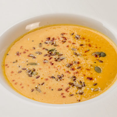 squash and bacon soup