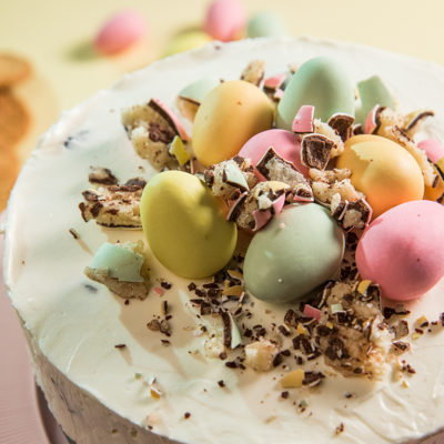 No Bake Easter Cheesecake