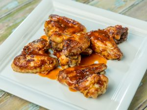 Roasted Chicken Wings with Asian Miso Sauce