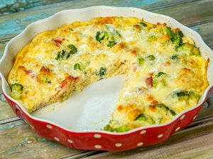 Cheesy Bacon and Broccoli Pie