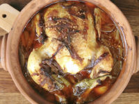 Whole Roasted Chicken with Onion and Chili